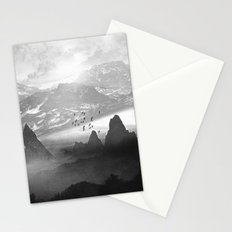 Black and White - Winter. Melody... Stationery Cards