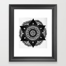 Flower Mandala Number 2 Framed Art Print