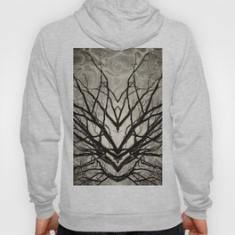 Face of Winter Witch Nature Abstract Hoody