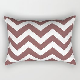 Tuscan red - violet color - Zigzag Chevron Pattern Rectangular Pillow