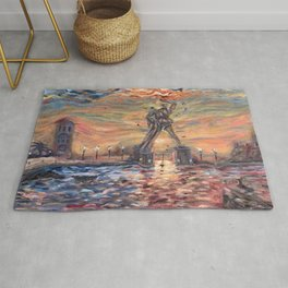 Colossus of Rhodes Greece Rug
