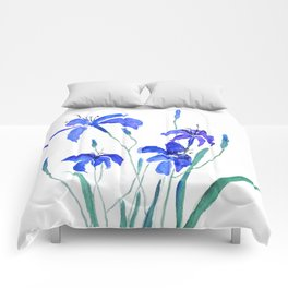 blue day lily Comforters