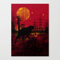 Cleo in the Dark Canvas Print