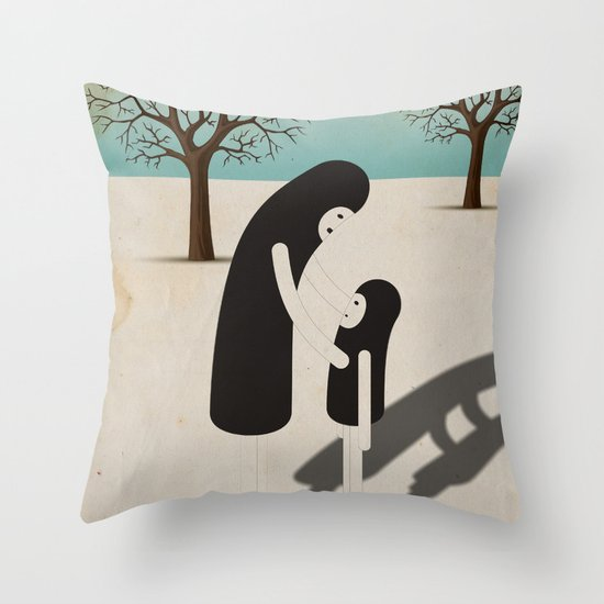 padre/figlio Throw Pillow