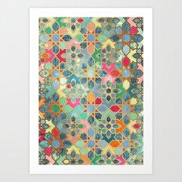 Gilt & Glory - Colorful Moroccan Mosaic Art Print
