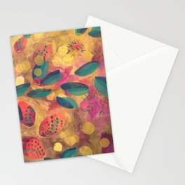 Mustard Flowers Stationery Cards