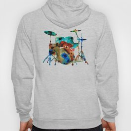 The Drums - Music Art By Sharon Cummings Hoody