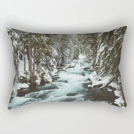 The Wild McKenzie River Portrait - Nature Photography Rectangular Pillow