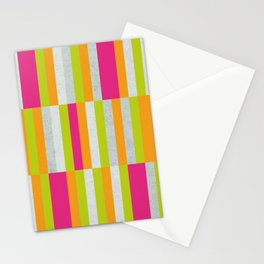 Stripes - Spring Neon Colors Stationery Cards