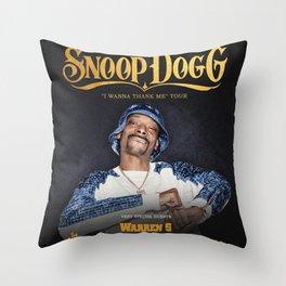 snoop dogg i wanna thank me tour 2020 muncrat Throw Pillow