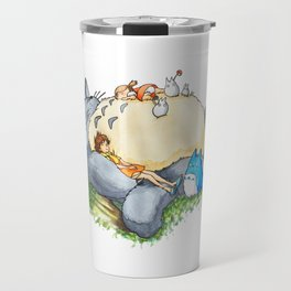 Ghibli forest illustration Travel Mug
