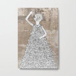 padlocks keys swallow Metal Print