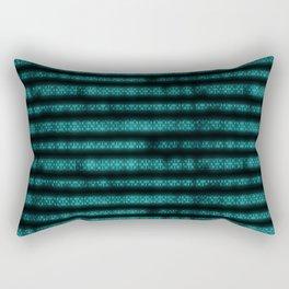 Blue Dna Data Code Rectangular Pillow