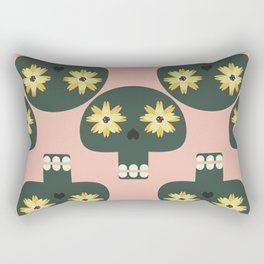 Funny pattern with cute skulls Rectangular Pillow