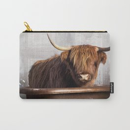 Highland Cow in the Tub Carry-All Pouch