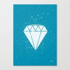 Space Diamond (blue) Canvas Print