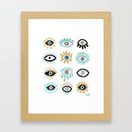 Evil Eye Illustration Framed Art Print