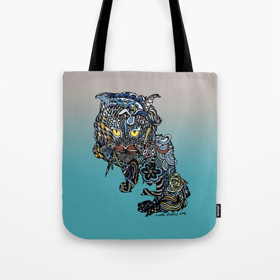 Dragon Cat (Color) Tote Bag