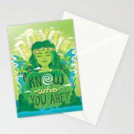 Know who you are Stationery Cards