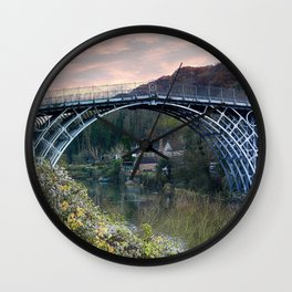 The Bridge across the Severn Gorge Wall Clock
