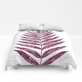 Simple Botanical Design in Dark Plum Comforters