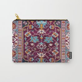 Romanian  Antique  Double Niche Carpet Carry-All Pouch