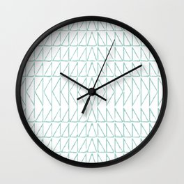 Geometric Line Drawing Wall Clock