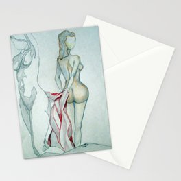 2 NUDES WITH A BLANKET Stationery Cards