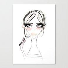 Morning MakeUp Canvas Print