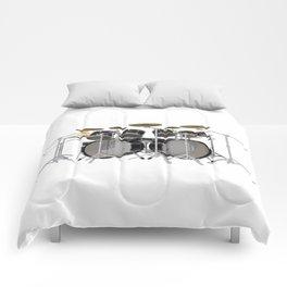 Black Drum Kit Comforters