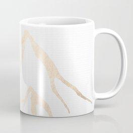 Adventure White Gold Mountains Coffee Mug