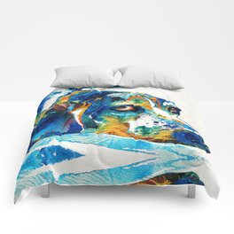 Colorful Beagle Dog Art By Sharon Cummings Comforters