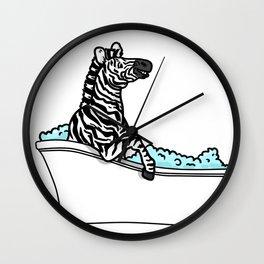 Bathtub zebra Wall Clock