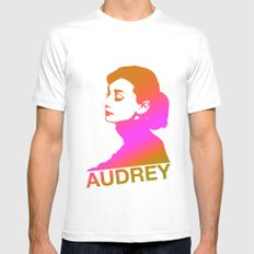 Audrey MEDIUM White Mens Fitted Tee