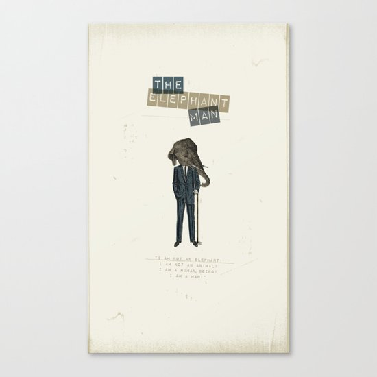 The elephant man Canvas Print