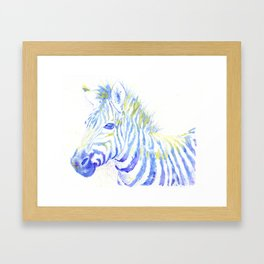 Quiet Zebra Framed Art Print