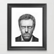 House MD Zombie Portrait Hugh Laurie Framed Art Print