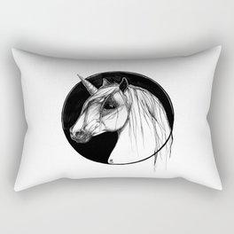 Black Unicorn - Through the Black Rectangular Pillow