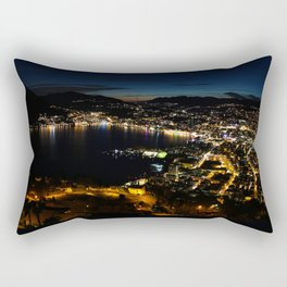 Lugano by night Rectangular Pillow