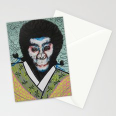 Kabuki face paint Stationery Cards
