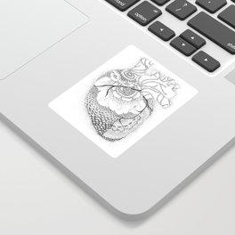 Anatomy Series: Myocardial Heart Mandala Flowers Sticker