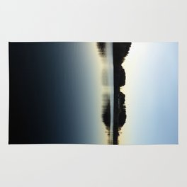 Indian summer sunset at the fishing lake V | waterscape photography Rug