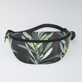 Eucalyptus Branches On Chalkboard Fanny Pack
