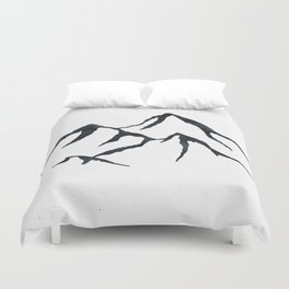 MOUNTAINS Black and White Duvet Cover