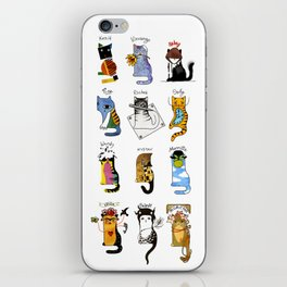 Legendary Art cats - Great artists, great painters. iPhone Skin