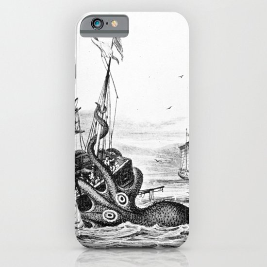 1810 vintage nautical octopus steampunk kraken sea monster drawing print Denys de Montfort retro iPhone & iPod Case
