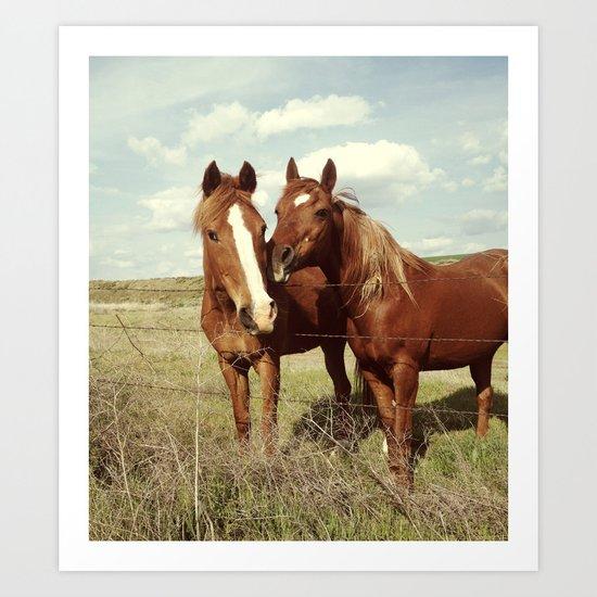 Horse Affection Art Print