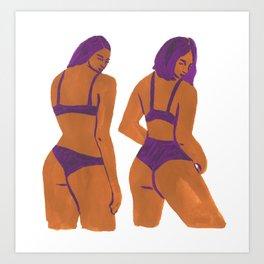 Bikini Girls Art Print