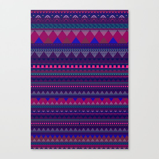 KNITTED AZTEC PATTERN  Canvas Print