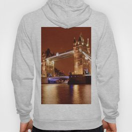 Tower Bridge on the River Thames, London, at night Hoody